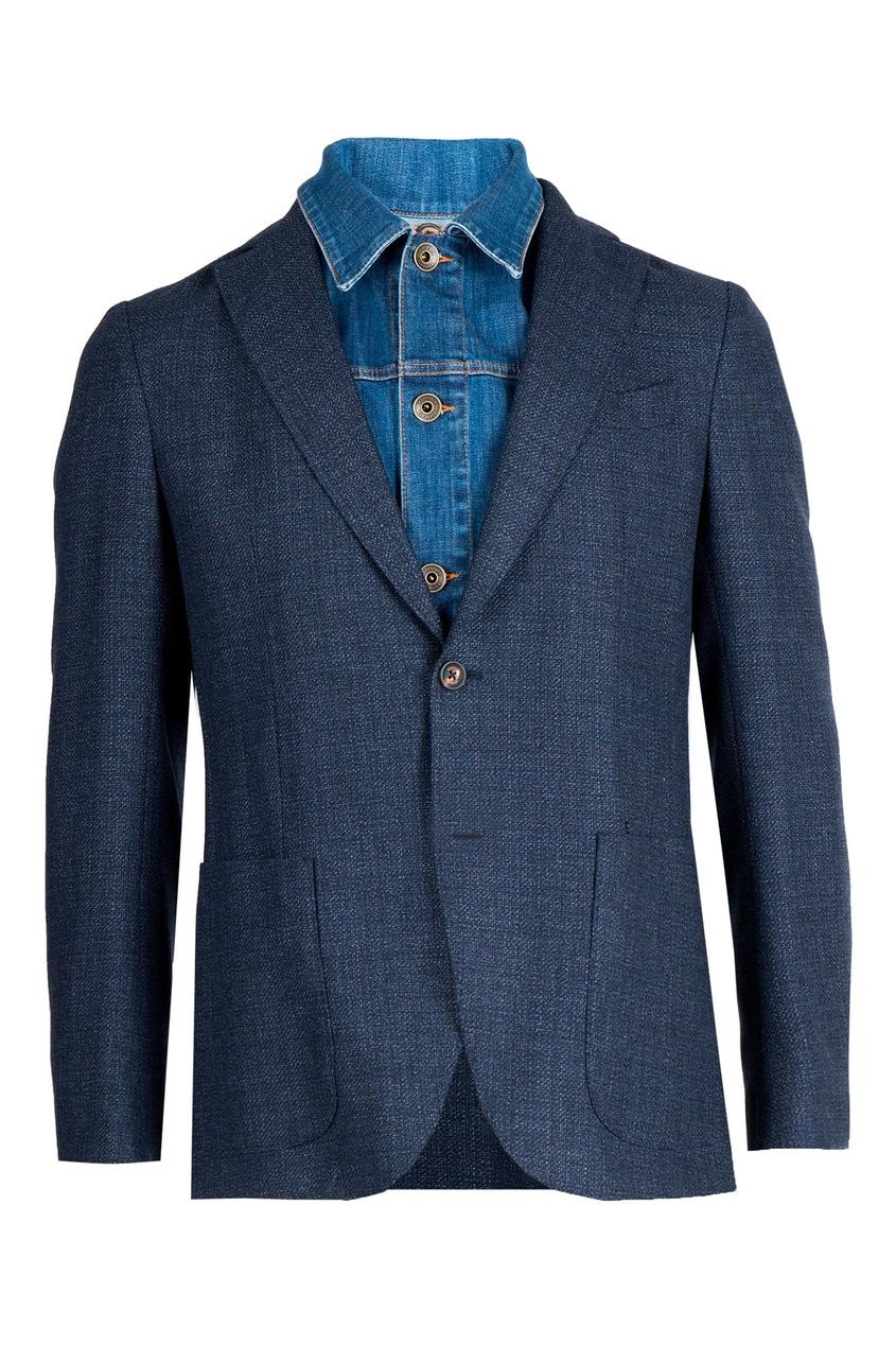 мужской пиджак eleventy, синий