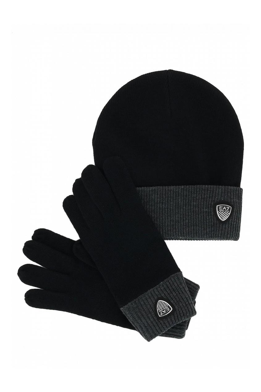 Комплект из шапки и перчаток от EA7