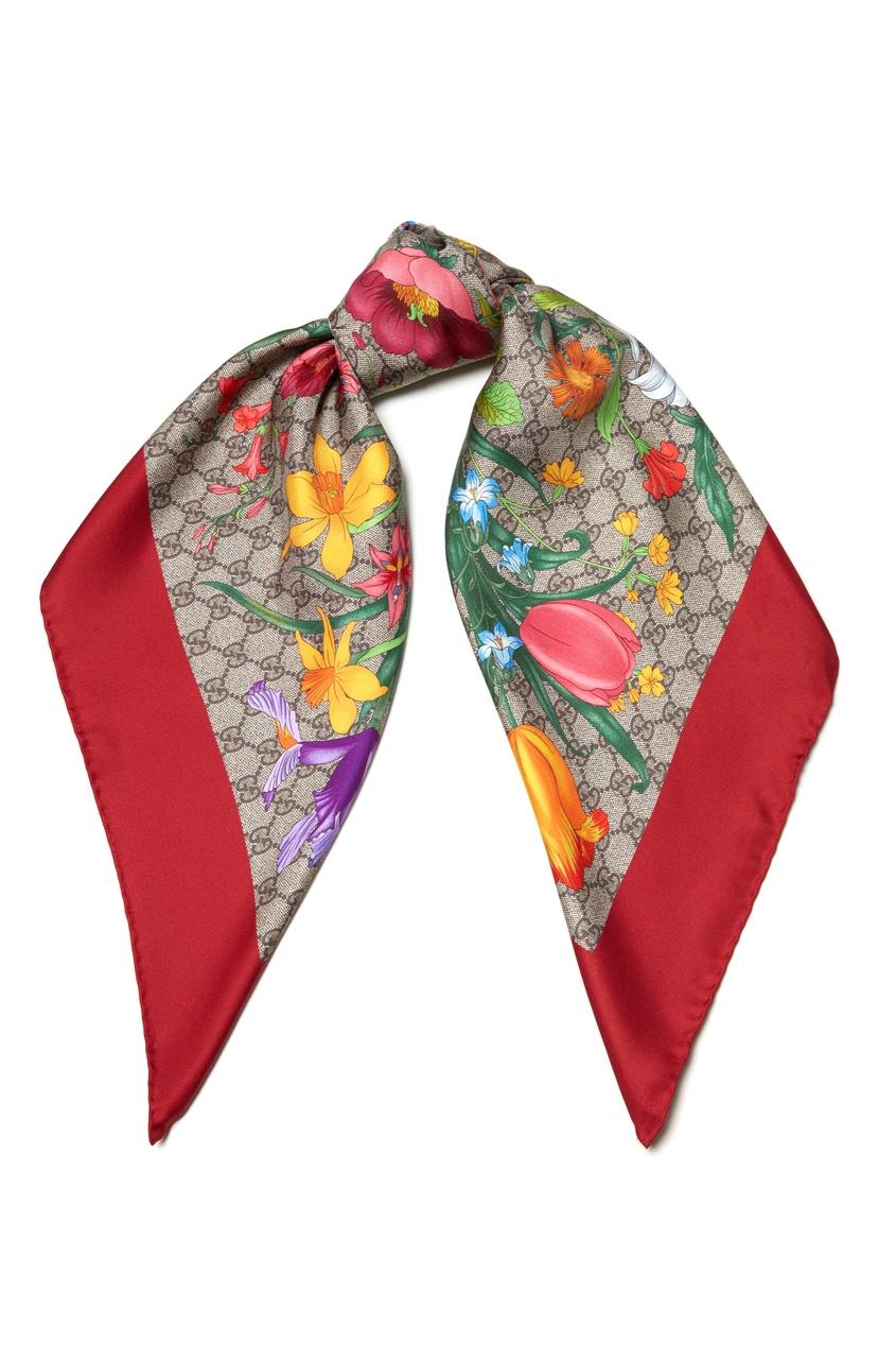 женский шелковые платок gucci