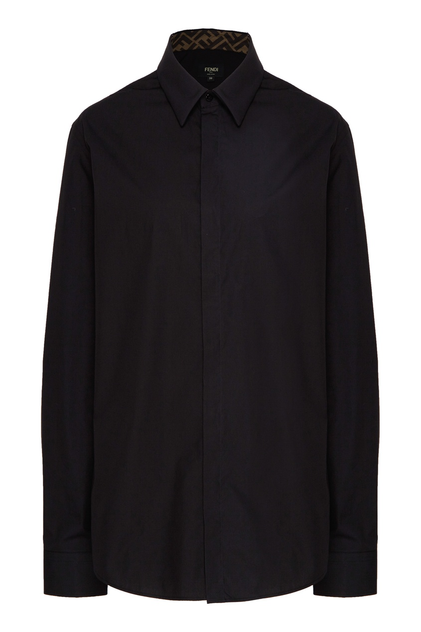 мужская рубашка fendi, черная