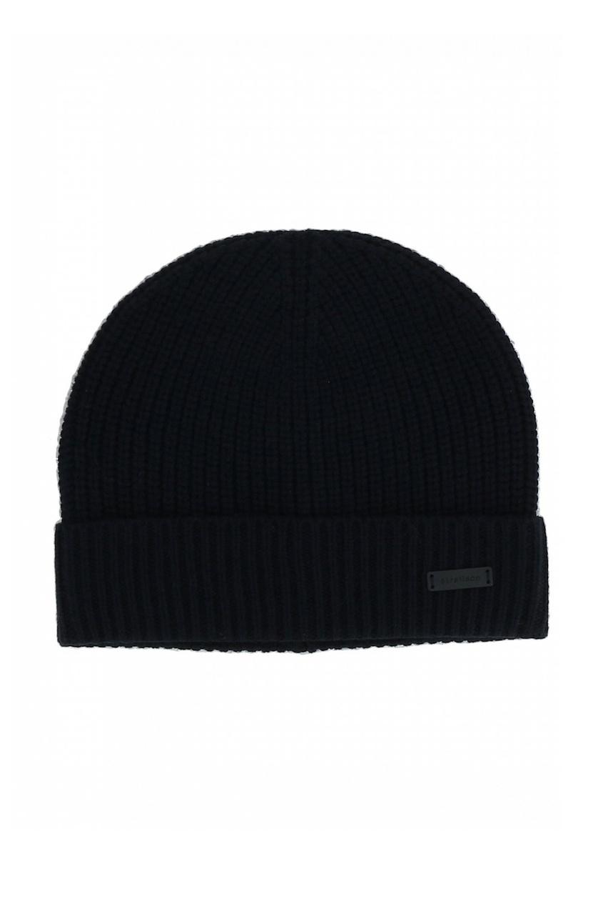 Комплект из шапки и шарфа черного цвета от Strellson