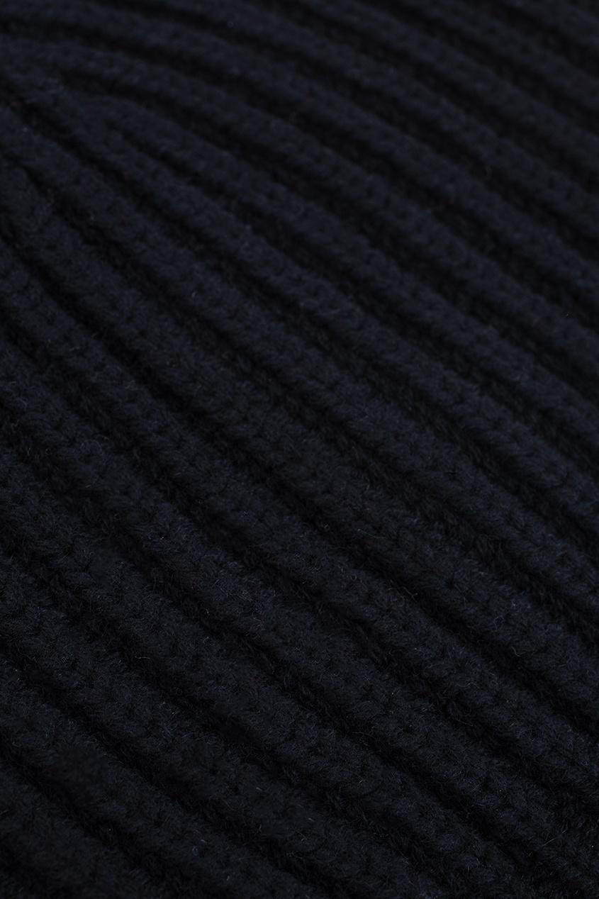Фото 2 - Кашемировая шапка от Alexander Terekhov черного цвета