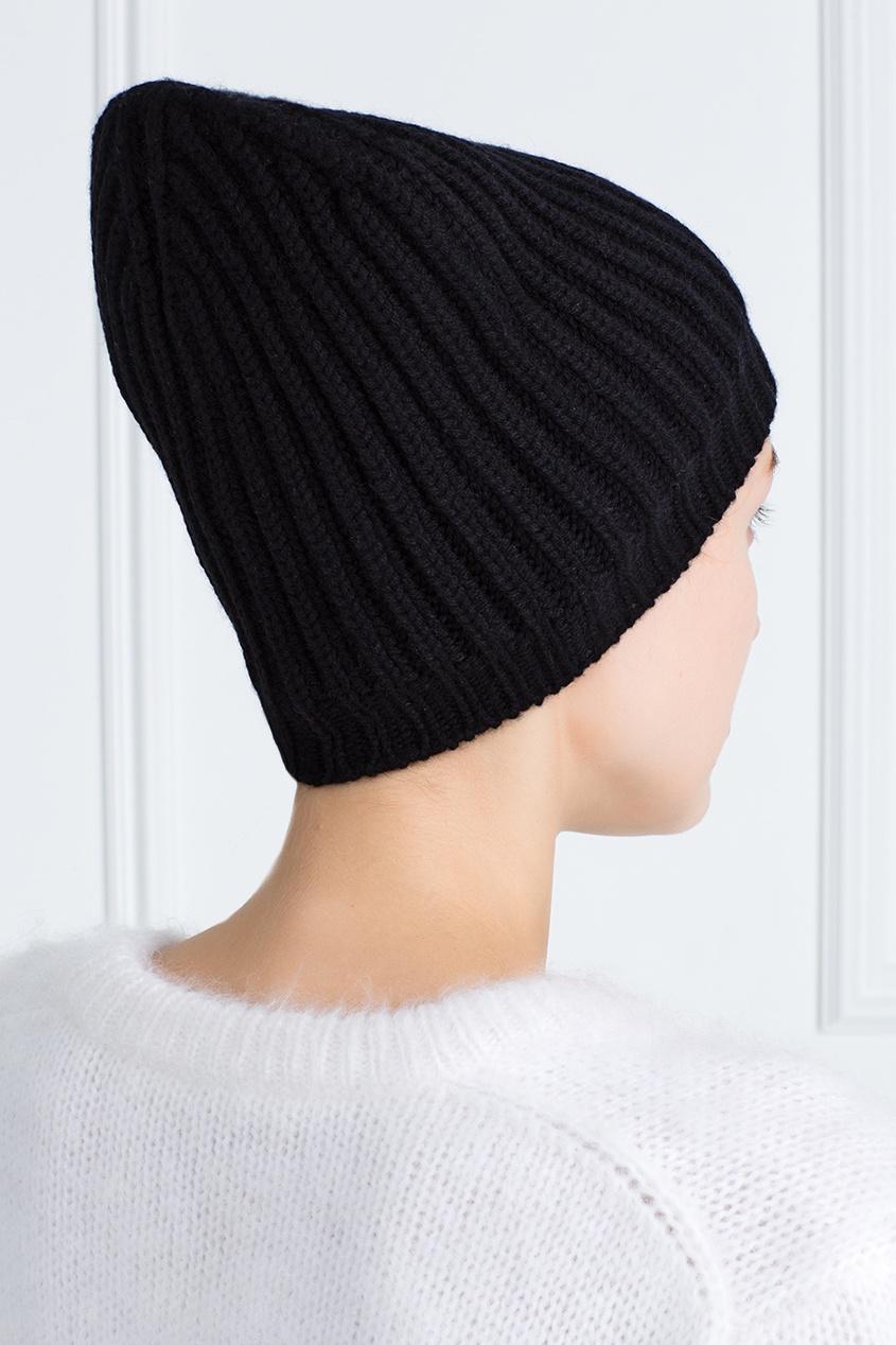 Фото 3 - Кашемировая шапка от Alexander Terekhov черного цвета
