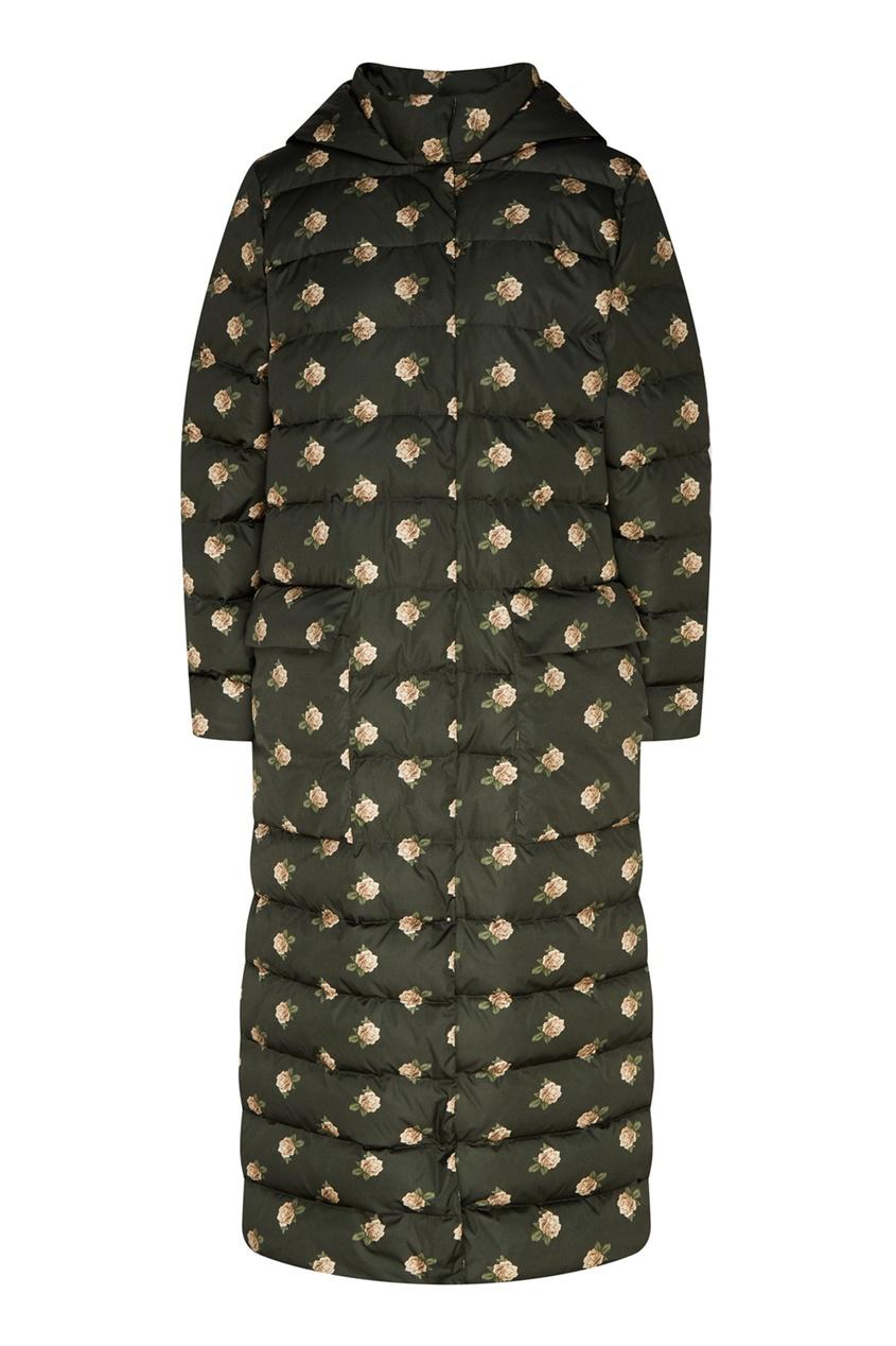 женское пальто стеганные alena akhmadullina, зеленое