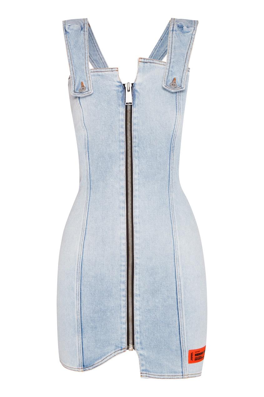 женское джинсовые платье heron preston, синее