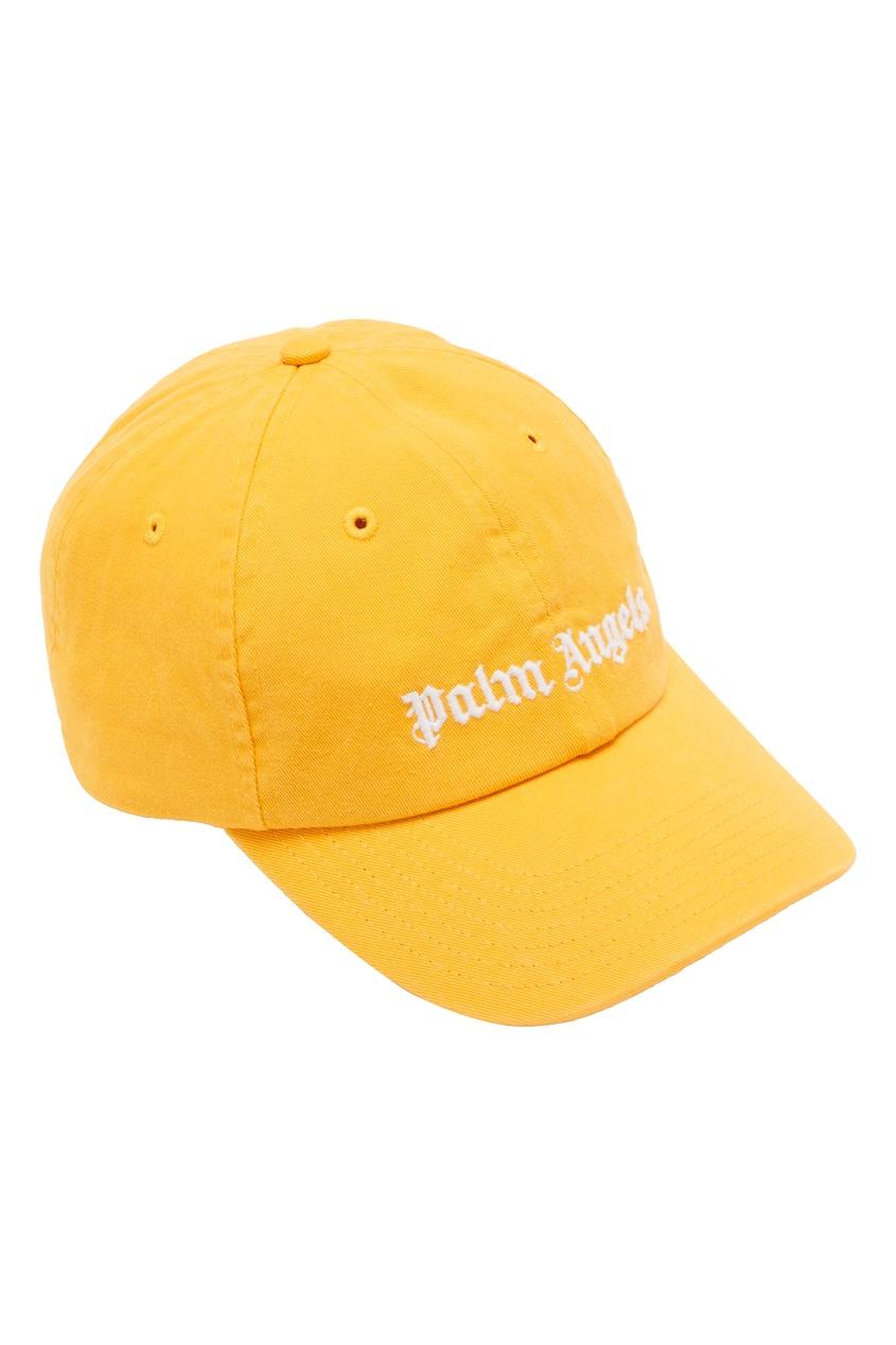 мужская бейсболка palm angels, оранжевая