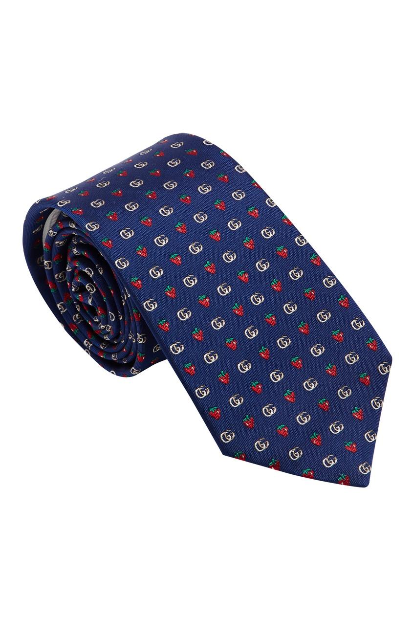 мужские галстуки и бабочки gucci, синие