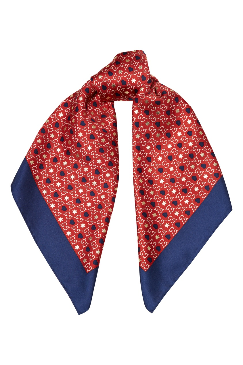 женский шелковые платок gucci, красный