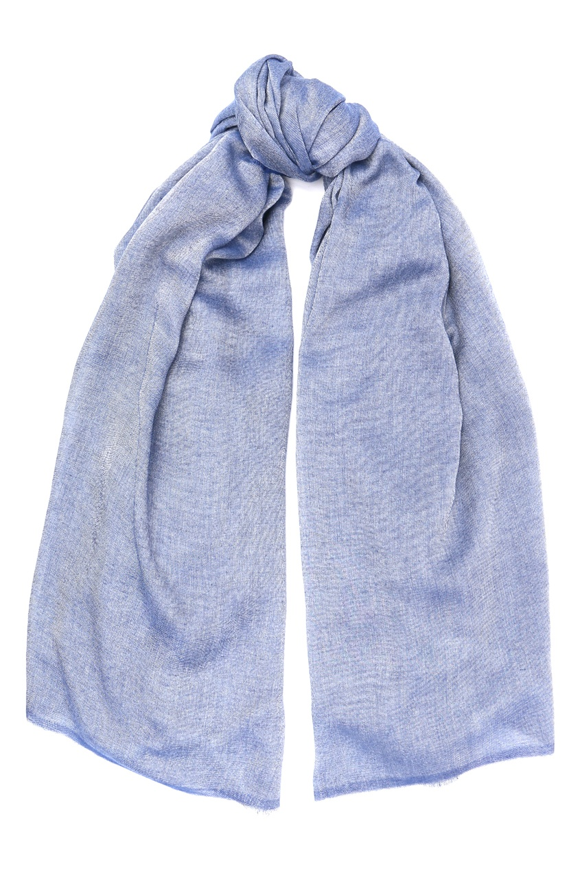 женский палантин marina rinaldi, синий