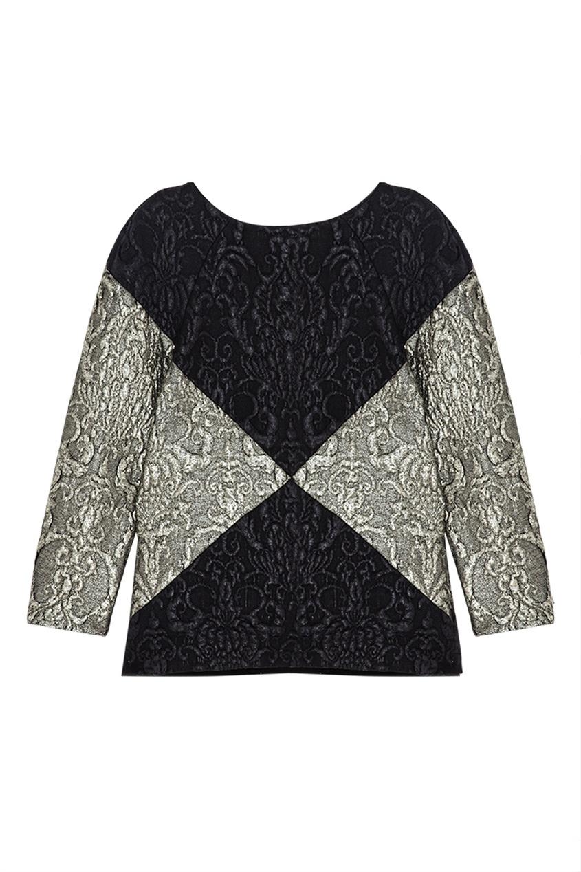Фото 2 - Прямая блузка от Chapurin серого цвета