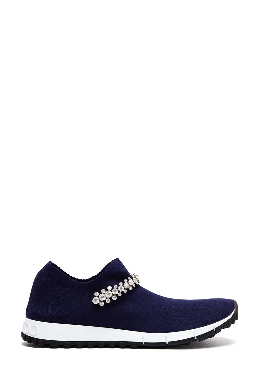 женские кроссовки jimmy choo, синие