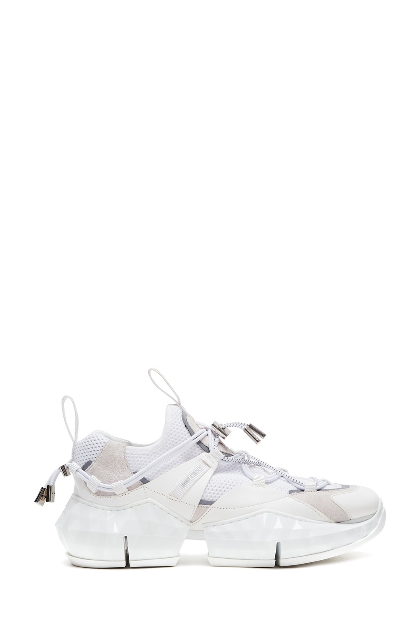 женские кроссовки jimmy choo, белые