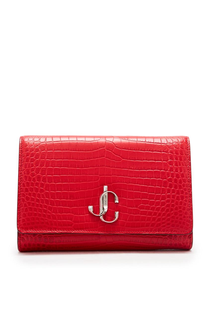 Ярко-красная сумка Varenne от Jimmy Choo