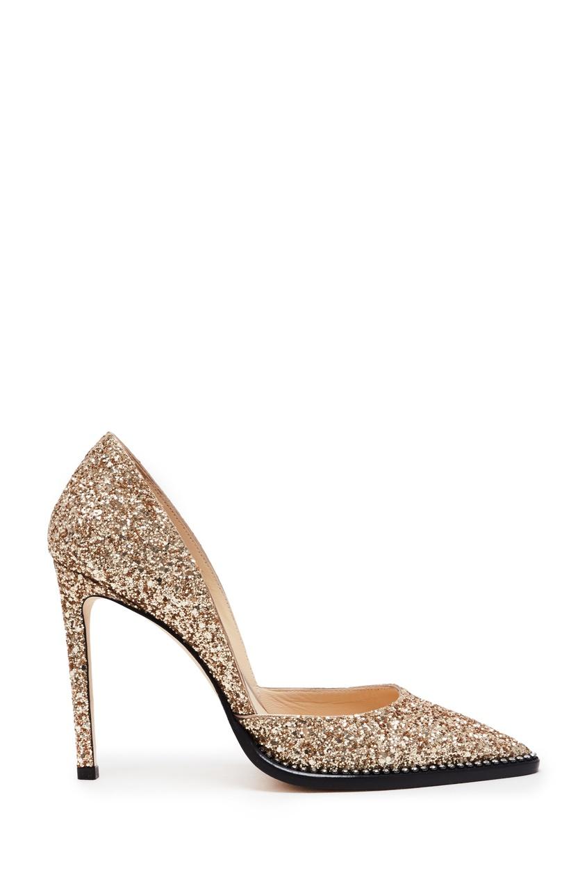 женские туфли jimmy choo, золотые