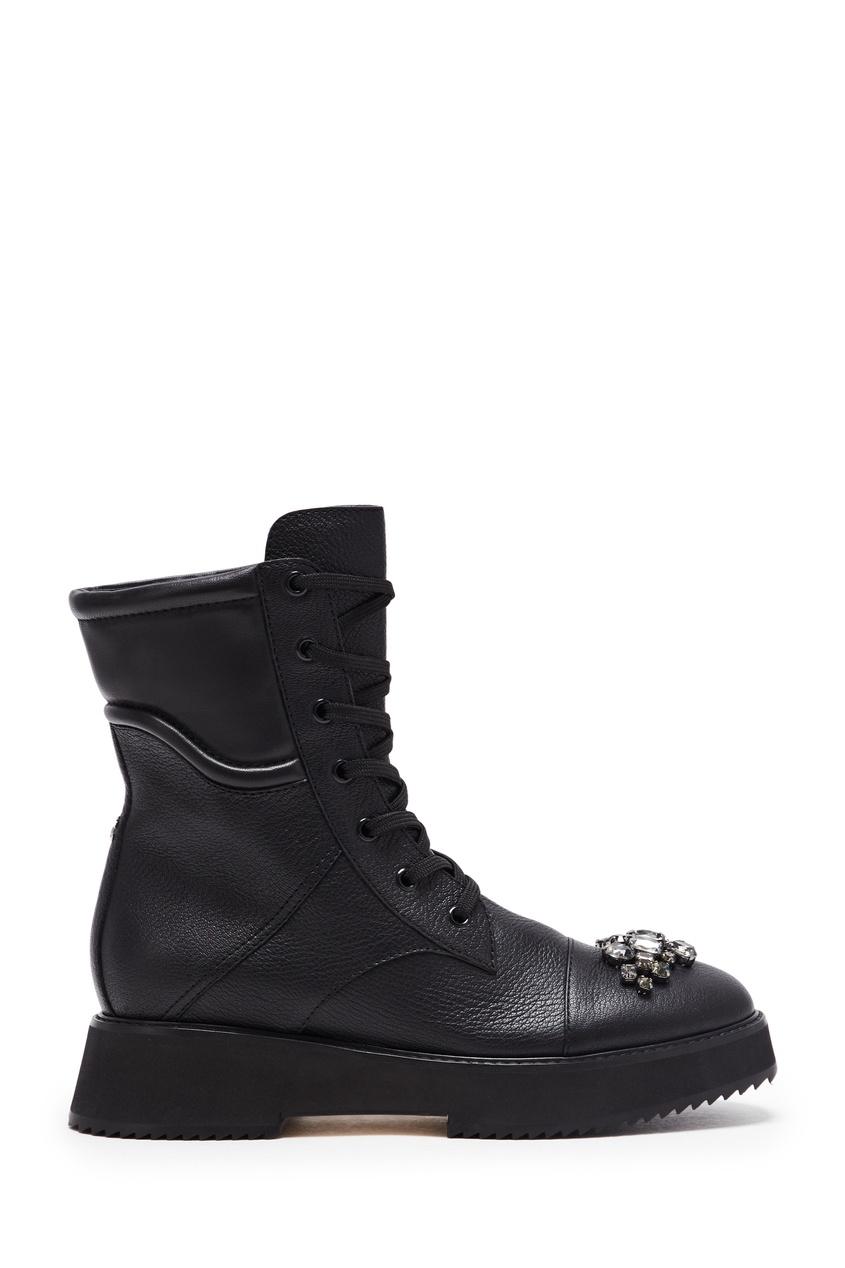 женские высокие ботинки jimmy choo, черные