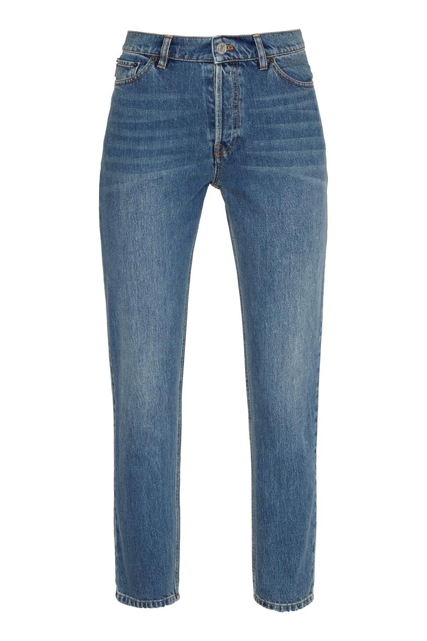 женские укороченные джинсы balenciaga, синие