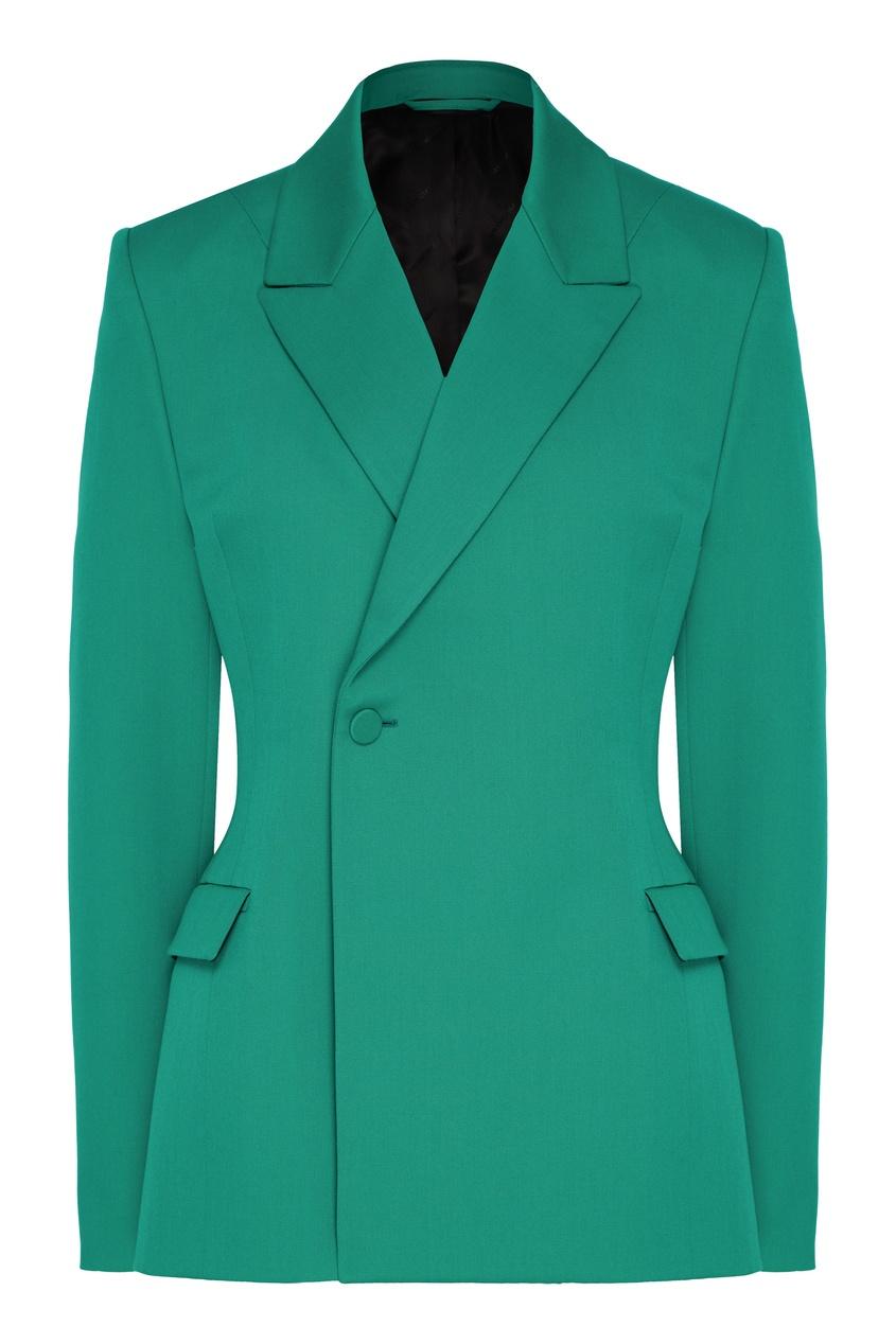 женский жакет balenciaga, зеленый