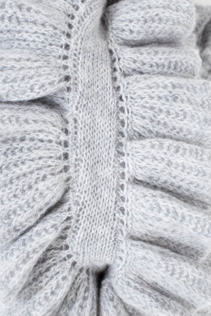 Фото 2 - Кашемировый шарф от Katia Mossina серого цвета