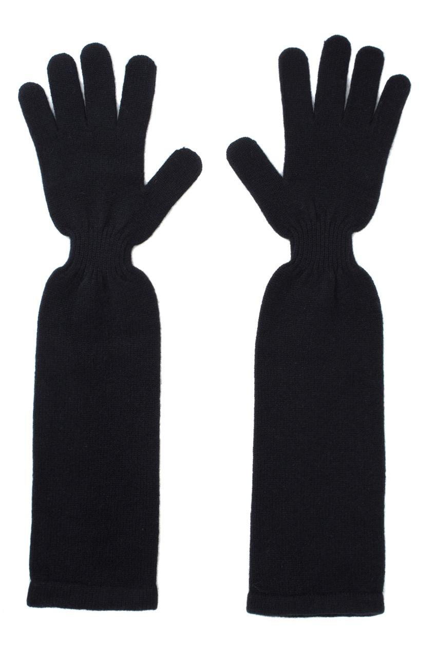 Фото - Кашемировые перчатки от Katia Mossina черного цвета