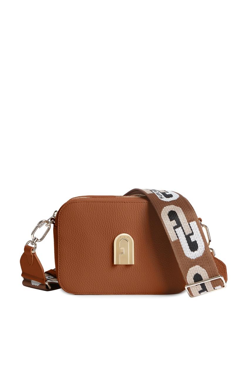женская сумка furla, коричневая