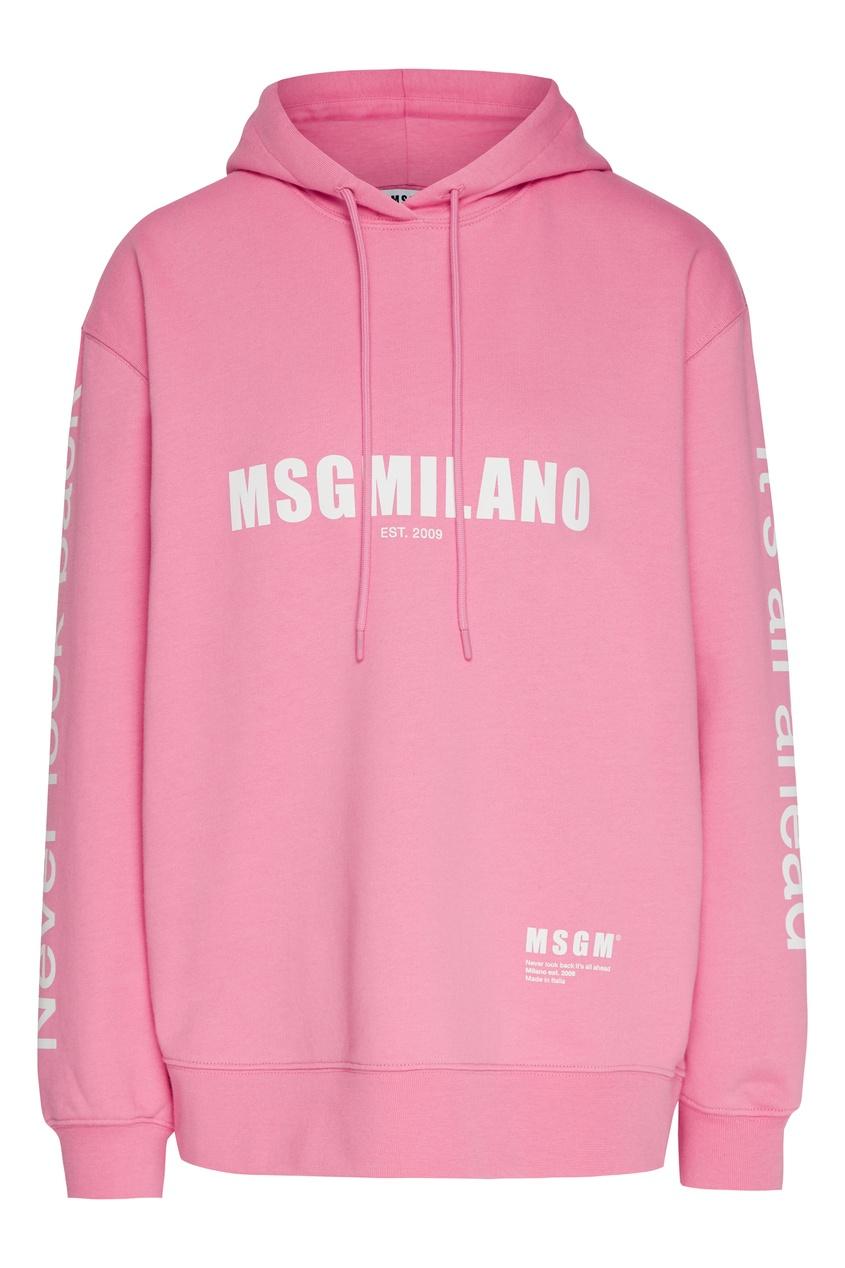 женские худи msgm, розовые