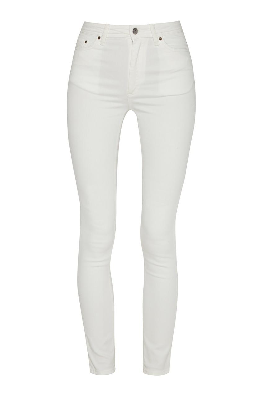 женские джинсы скинни acne studios, белые