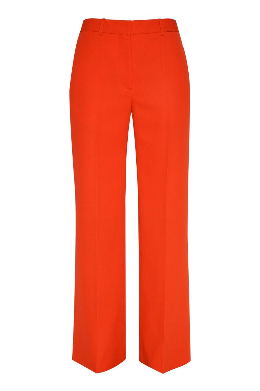 Оранжевые брюки клеш от Victoria Beckham