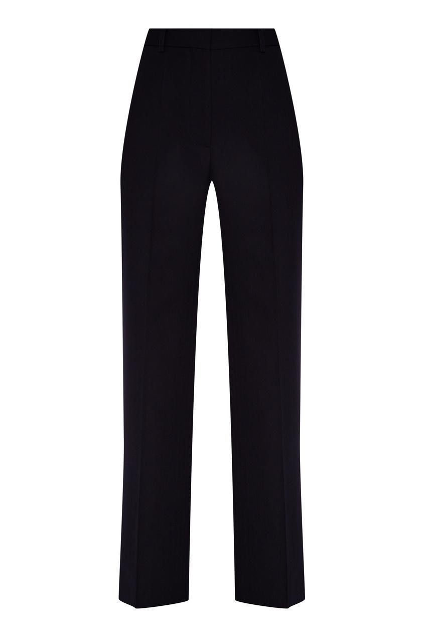 Темно-синие брюки клеш от Victoria Beckham