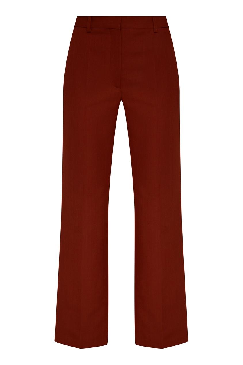 Коричневые брюки клеш от Victoria Beckham
