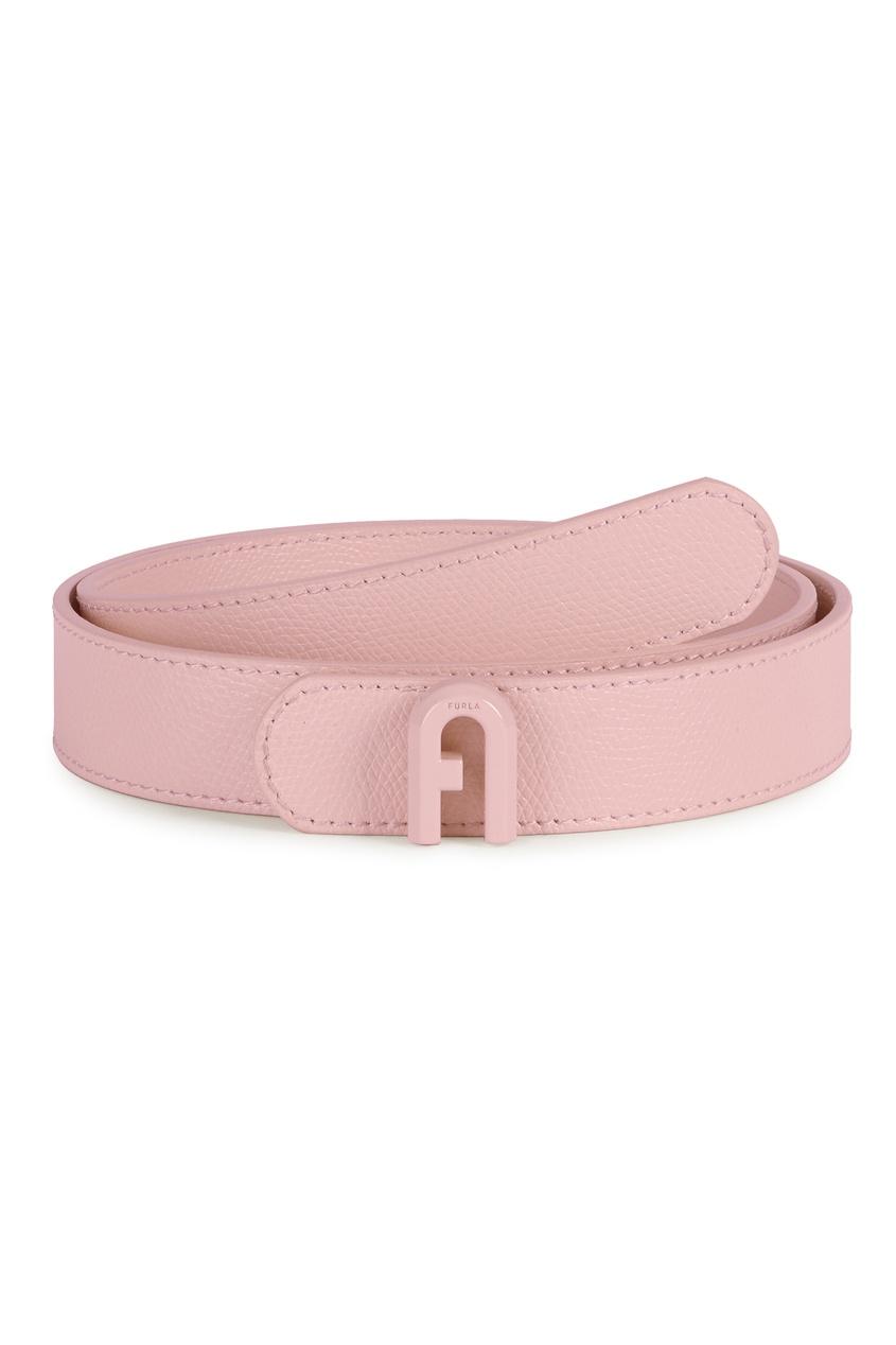 женский кожаные ремень furla, розовый