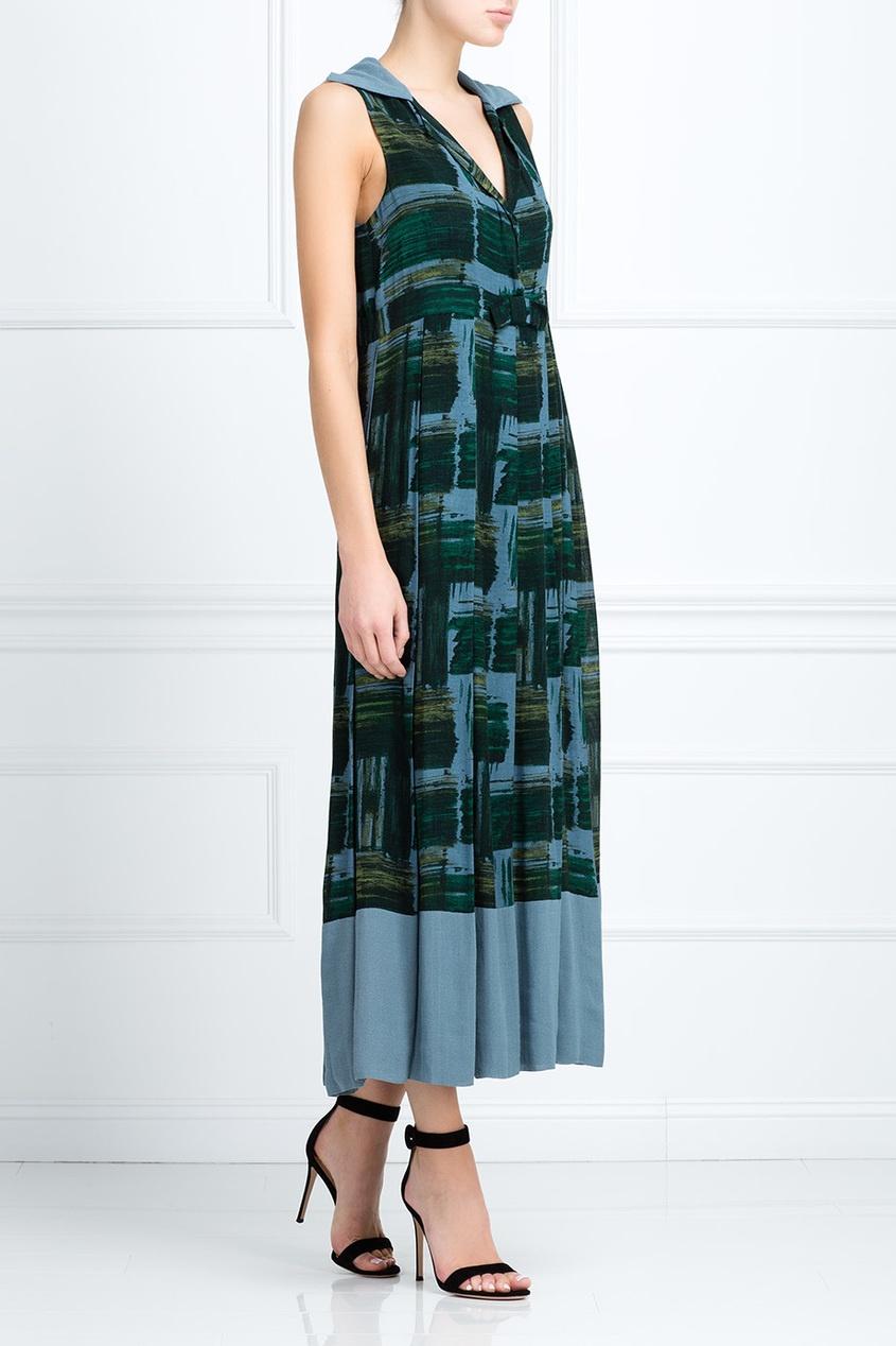 Фото 3 - Шерстяное платье (90-е) от Romeo Gigli Vintage зеленого цвета