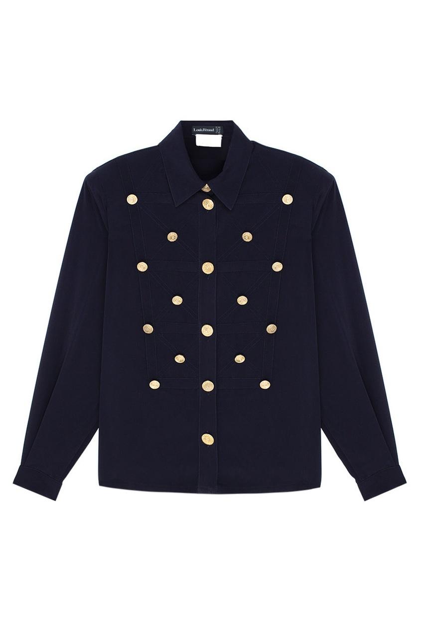 все цены на Louis Feraud Vintage Однотонная блузка онлайн