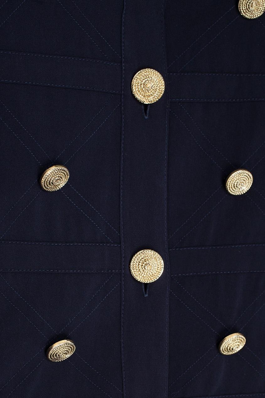 Фото 2 - Однотонная блузка от Louis Feraud Vintage черного цвета