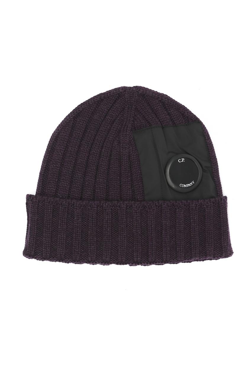 мужская шерстяные шапка c.p. company, фиолетовая