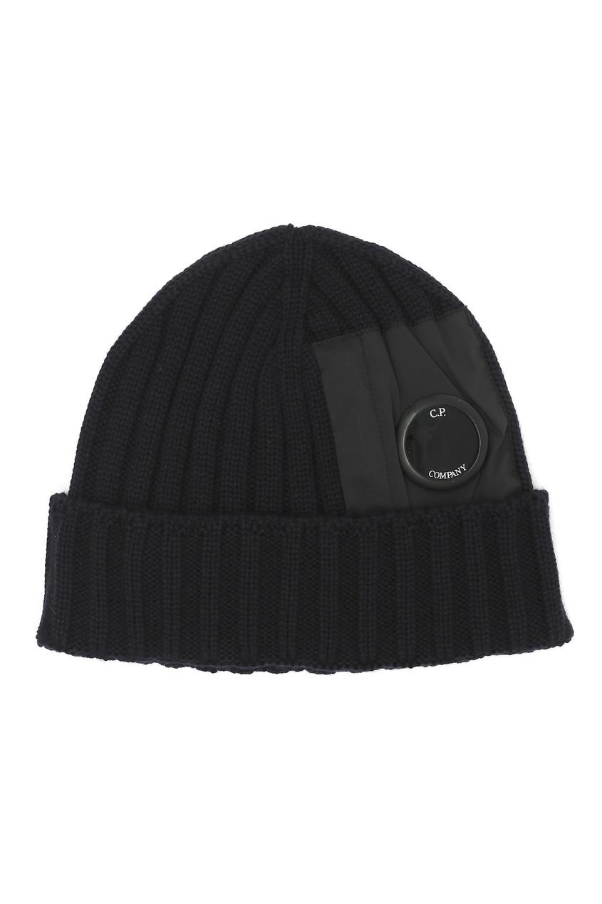 мужская шерстяные шапка c.p. company, синяя