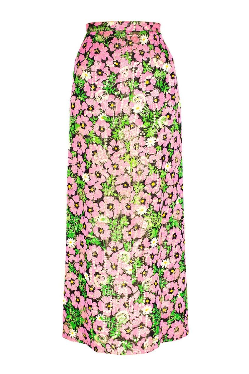 Givenchy Vintage Юбка из парчи (70-е) givenchy vintage юбка бархатная 70е