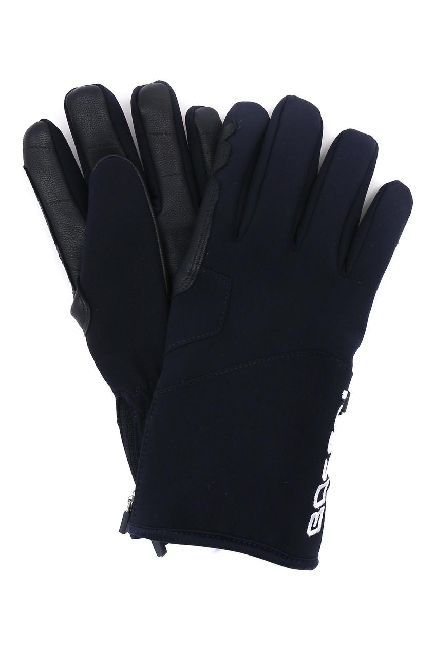 мужские кожаные перчатки bosco, синие
