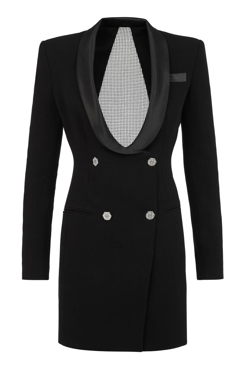 женское платье-пиджаки philipp plein, черное