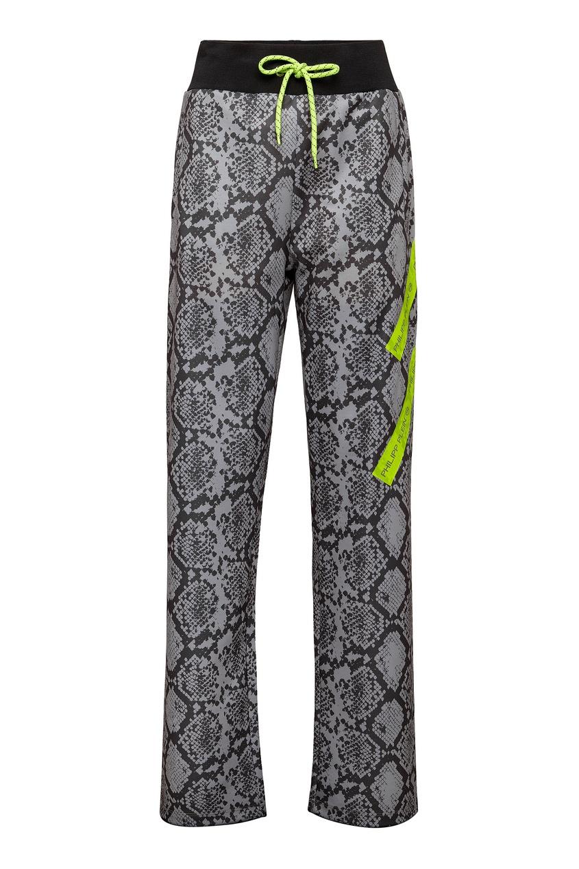 женские брюки philipp plein, серые