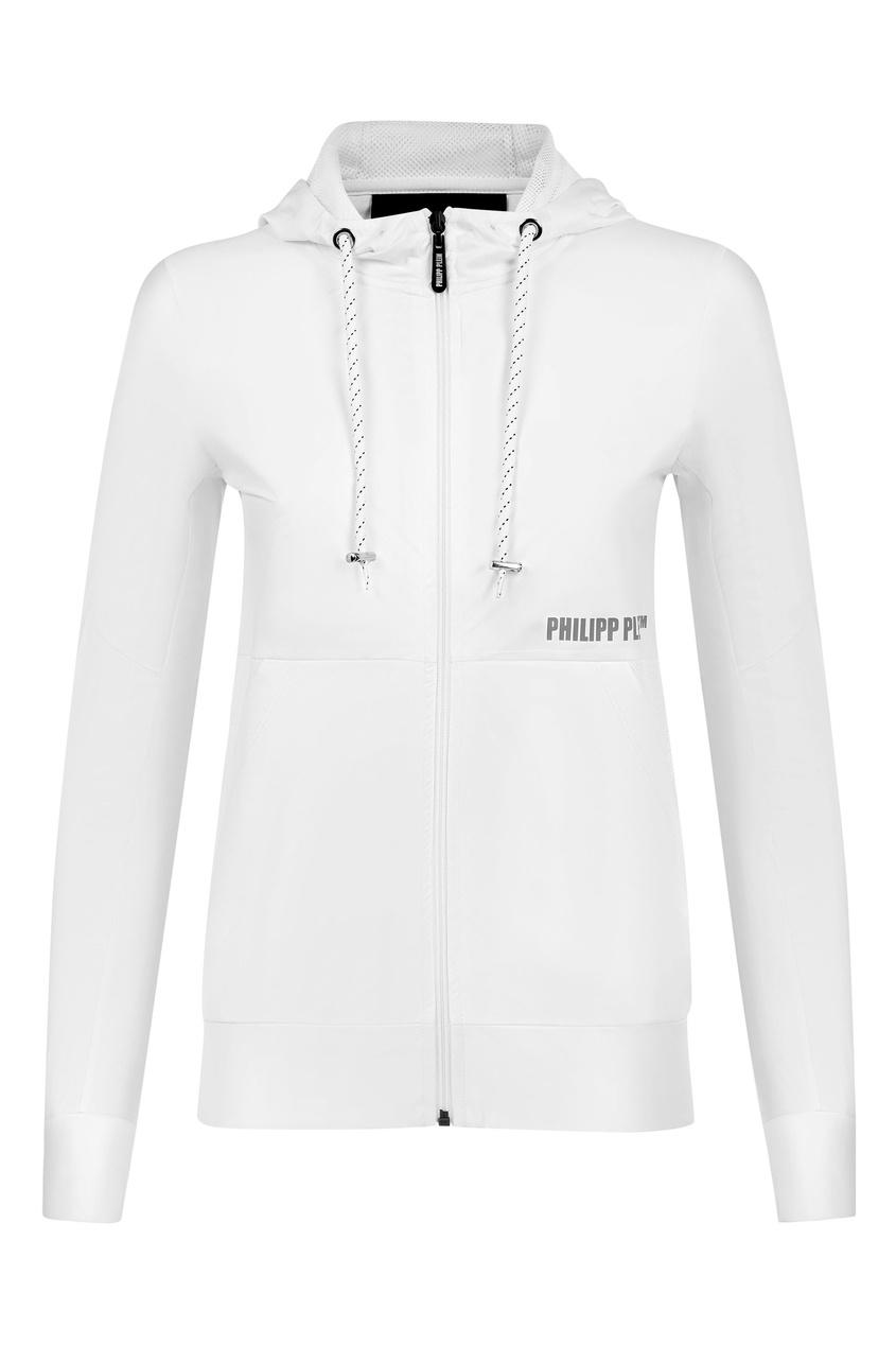женская спортивные куртка philipp plein, белая