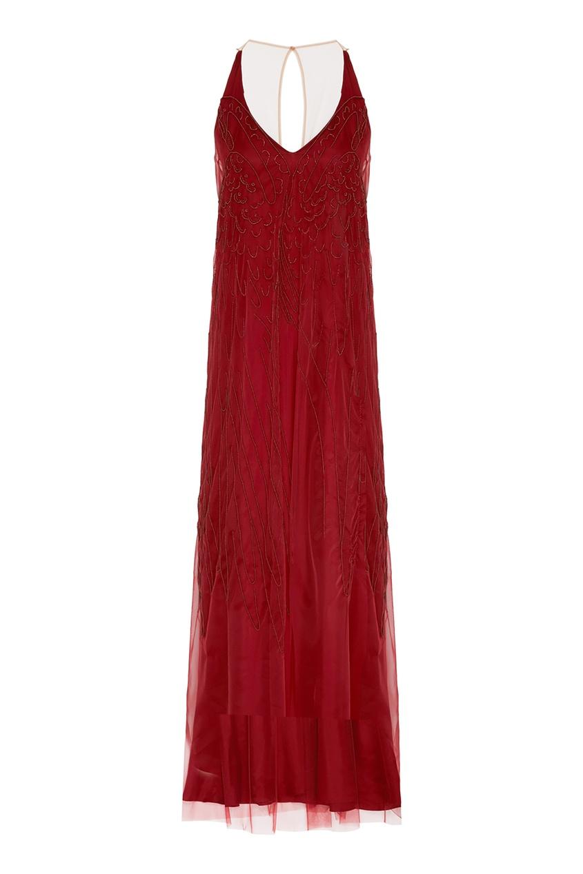 женское платье alena akhmadullina, бордовое