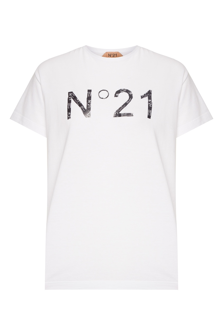 женская футболка no.21, белая