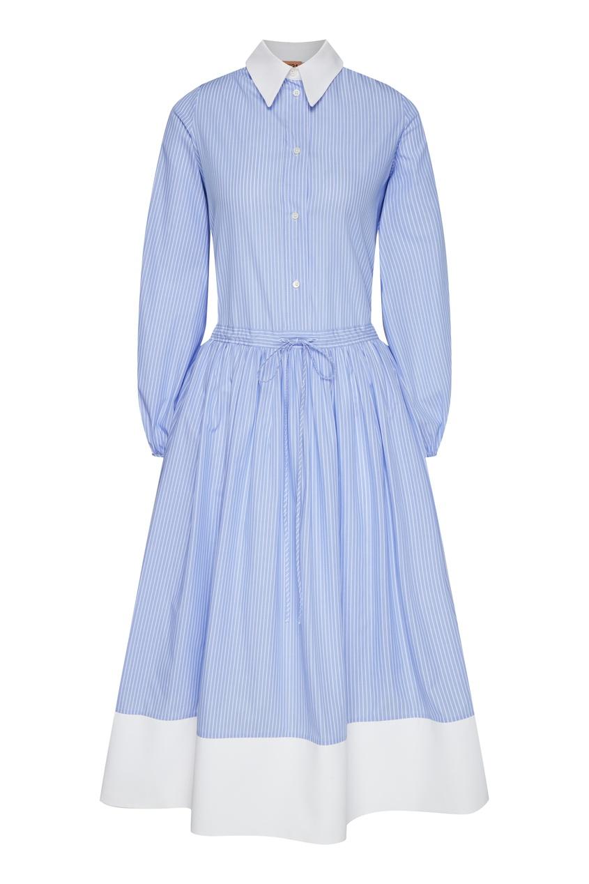 женское платье-рубашки no.21, голубое