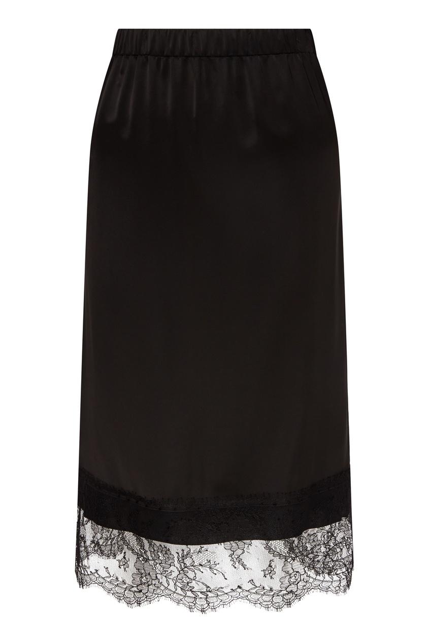 женская кружевные юбка no.21, черная