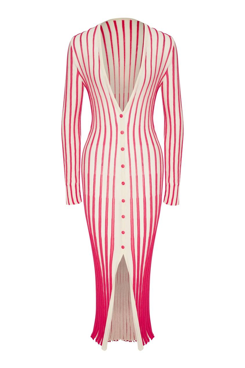 Вязаное платье в полоску Jacques