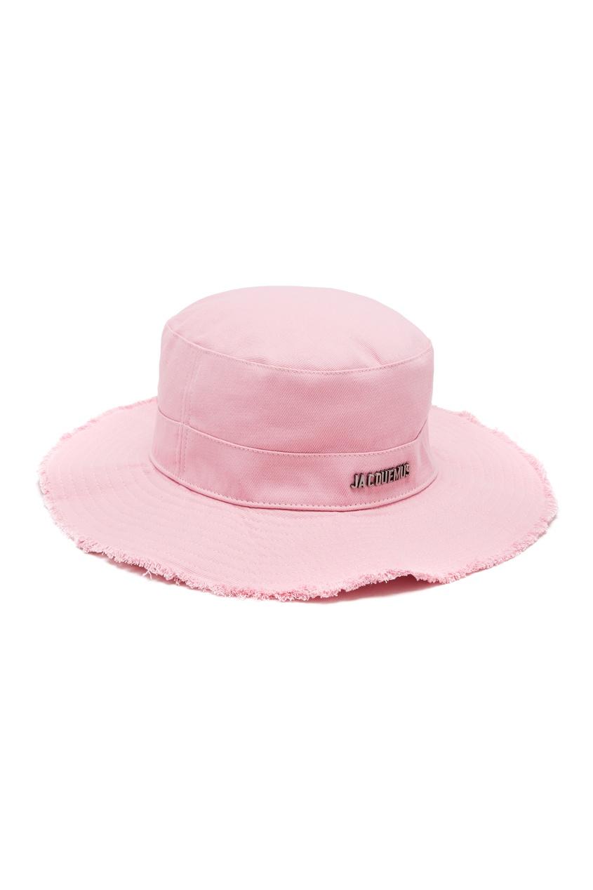 Хлопковая шляпа розового цвета Artichaut JACQUEMUS