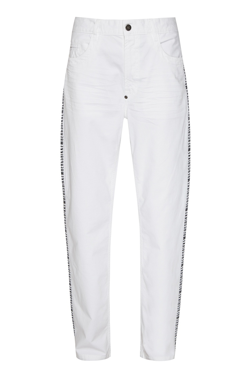мужские брюки bikkembergs, белые