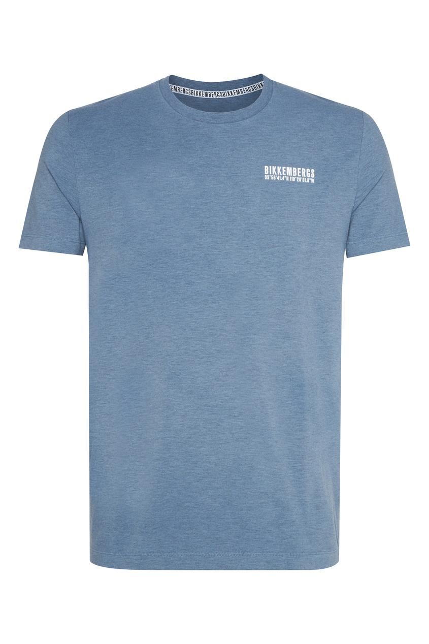 мужская футболка bikkembergs, голубая