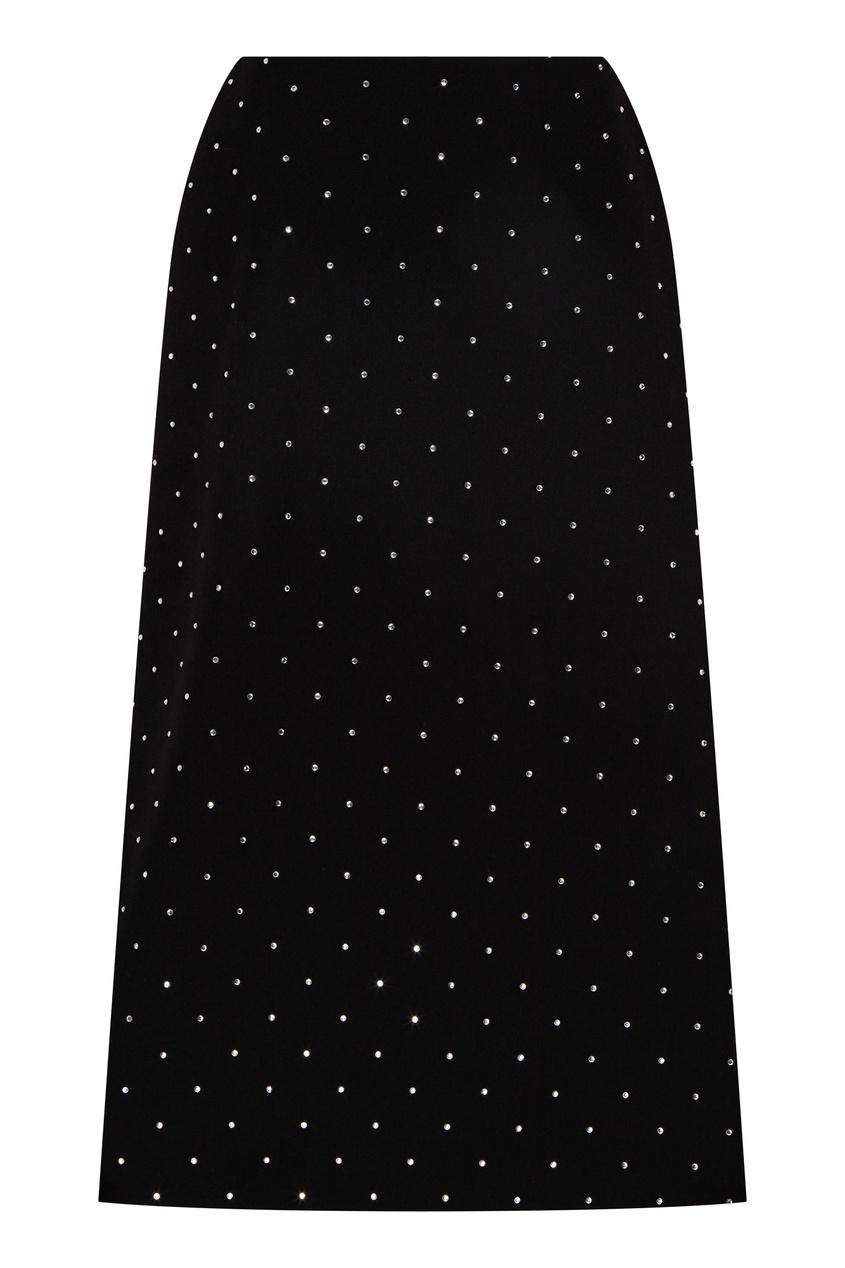 женская юбка миди balenciaga, черная