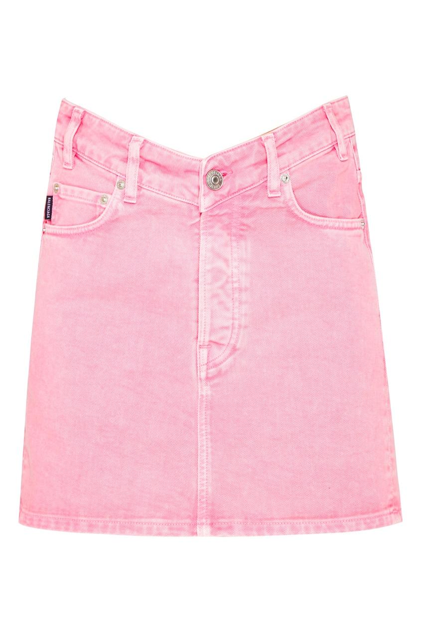 женская юбка мини balenciaga, розовая